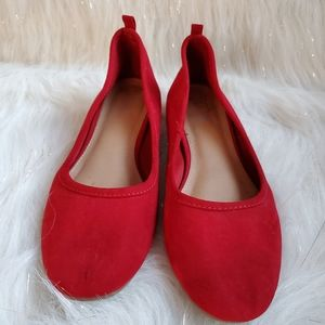 Brash Red Low Heel Pumps Size 7.5